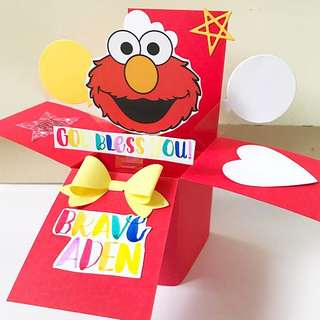 God bless you take care Handmade Pop up card