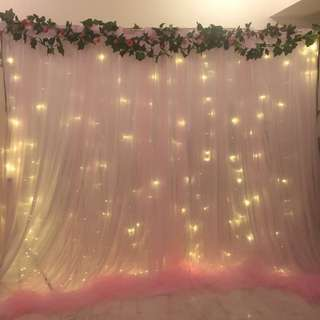 [RENT] Rosy Pink Backdrop Set