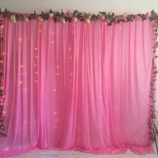 [RENT] Baby Pink Backdrop Set