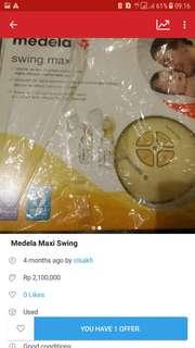 Medela maxi swing electric pakai 1 tahun