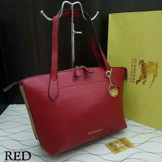 Burberry Tote Red Color