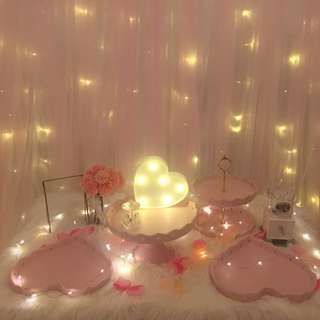 [RENT] Dreamy Pink Cake Stand Set