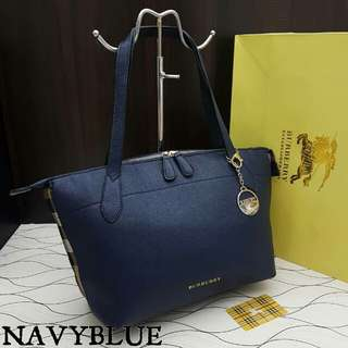 Burberry Tote Dark Blue Color