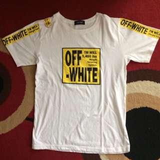 T-shirt warna krem
