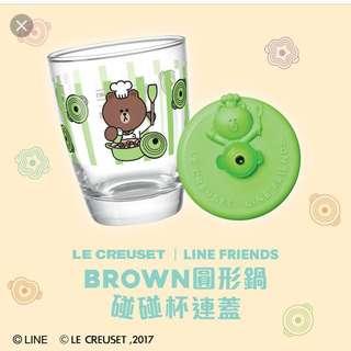 7-11 line 玻璃杯綠色 全新