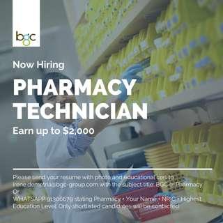 Pharmacy Technician (Up to $2,000)