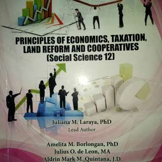 Principles of economics, taxation, land reform, and cooperatives (social science 12)