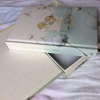 Cute diary book with box