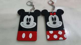 Mickey n Mim8 Mouse card holders