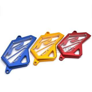 Yamaha YZF R3 R25 Gold red blue Engine protector chain sprocket cover guard