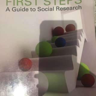 First Steps A Guide to Social Research