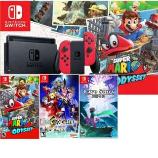 Promotion! Brand New Nintendo Switch + Super Mario Odyssey + Fate Extella + Cave Story + Warranty + free courier