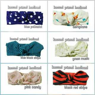 🆕🆕KNOTTED PRINTED HEADBAND RM10.00