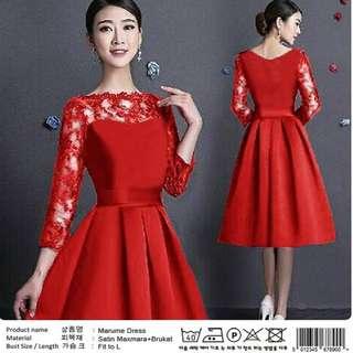 Marume dress Rp75.000 Satin maxmara mix brukat fit L ld94 p88. Redi jkt