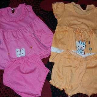 2 Pcs Setelan Santai Bayi 0-8 Bulan