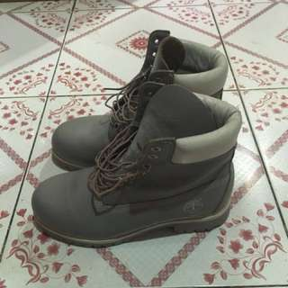 Timberland Gray Leather