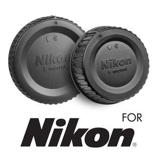 BF-1B body cap + LF-4 rear lens cap for Nikon (OEM)  (1 set)