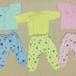Sleepsuits bayi lengan panjang dan pendek campur