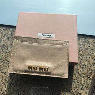 100% real 70% new Miu pink cardholder 卡片套
