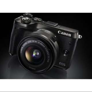 CANON EOS M6 Mirrorless Camera with 15-45 mm f/3.5-6.3 Lens