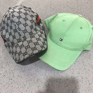 Gucci & Tommy Caps
