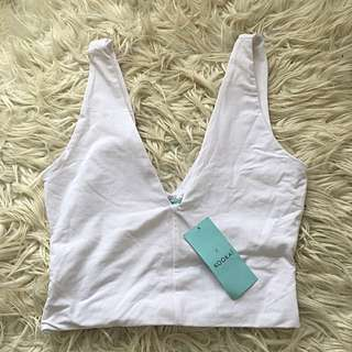 Kookai white April crop brand new with tags