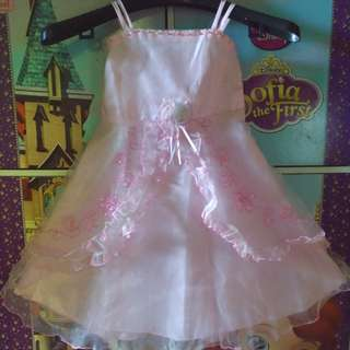 Dress organza anak