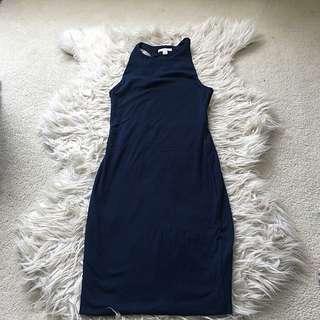 Kookai high neck navy dress