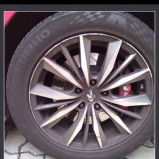 17 Inch Rims With Kumho PS31 Sports Tyres