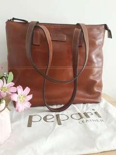 Pepari Leather Tote Bag