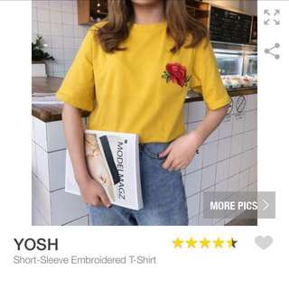 🌷Mustard Short Sleeve T-shirt // PO