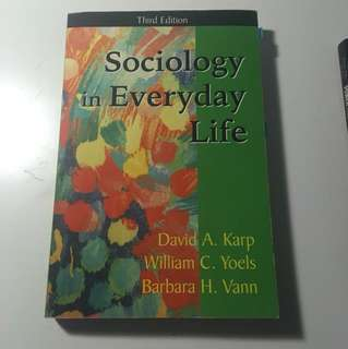 Sociology in everyday life SOC textbook