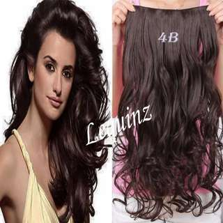 5 Clip Curl Hair Extensions Choco Brown 2 for $30 onlY !