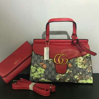 Gucci Tote 2 in 1 with Pouch Red