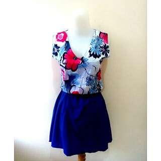 Floral Mini Dress Cute
