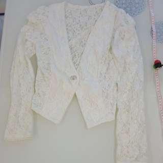 蕾絲短版外套