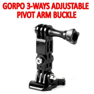 TGP009 3-Ways Adjustable Pivot Arm Buckle for GoPro Hero Camera
