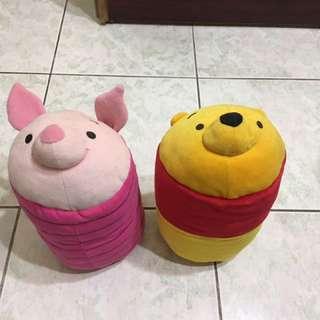 🚚 維尼與小豬 抱枕、靠墊、枕頭