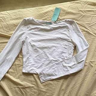 Kookai brand new with tags long sleeve crop