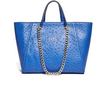 Guess Nikki Ostrich Chain Shoulder Bag