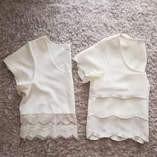 MINKPINK White Crop Tops