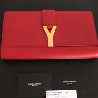 Authentic YSL leather clutch bag
