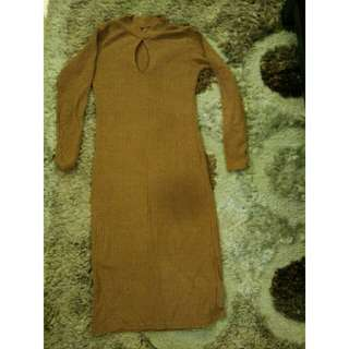 Sexy dress brown