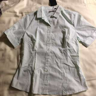 Light green and white striped shirt