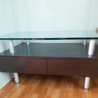 Coffee table, size:31 ( W ) X  20 ( D ) X 17 ( H )inch.and one lamp