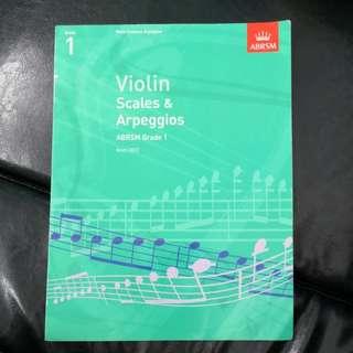 Violin scales & arpeggios (Grade 1)