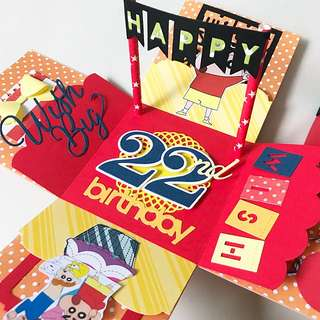 Happy 22nd Birthday shin Han Explosion Box Card