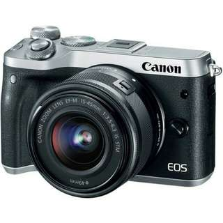 Kredit Canon EOS M6 Mirrorless Dital Camera With 15-45mm Lens - tanpa kartu kredit