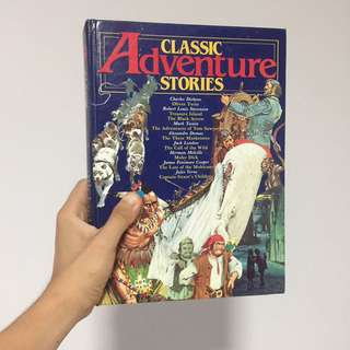 Hardcover book: Classic adventure stories (preloved)