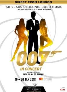 2x James Bond Concert tickets 20 Jan